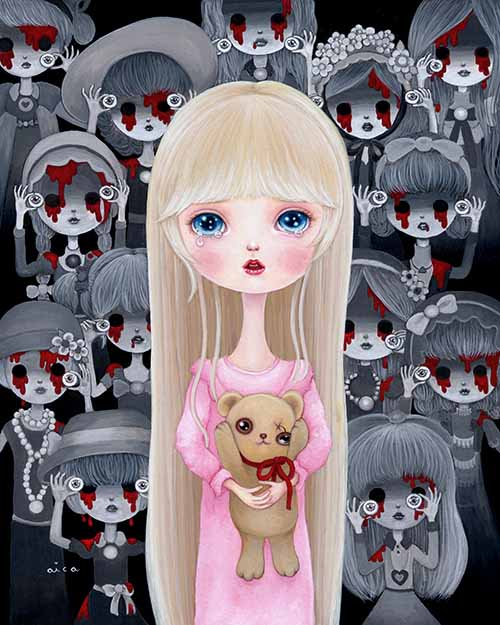 Dolls Are Very Loyal Painting by aica, Art Artist aica